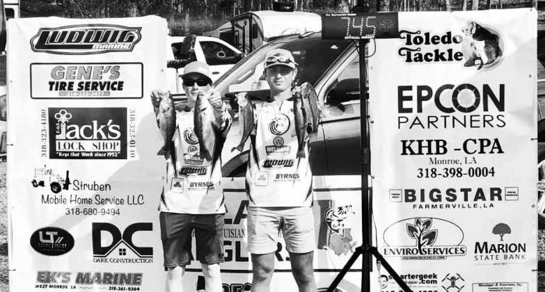 Bradley Newcomb and Randall Stansbury of D'Arbonne Woods Charter School finished in eighth place at the recent high school tournament on Lake Claiborne. Submitted photo